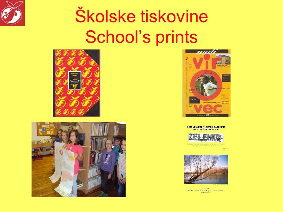 Školske tiskovine School's prints