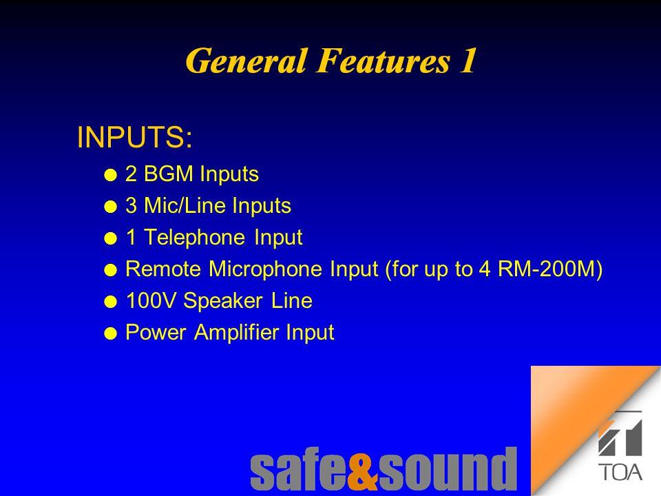 Background Design: Torsten Kranz Design: Torsten Kranz @ TEE  INPUTS: l 2 BGM Inputs l 3 Mic/Line Inputs l 1 Telephone Input l Remote Microphone Input (for up to 4 RM-200M) l 100V Speaker Line l Power Amplifier Input
