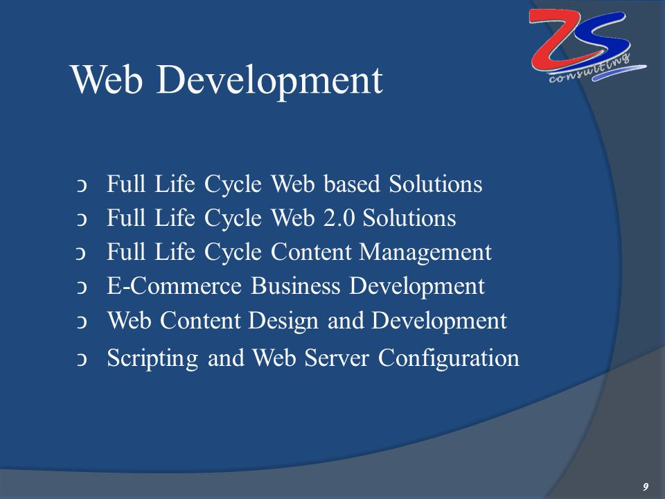 Wireless & Mobile Solutions Wireless Development & RFID implementation Development of Web 2.0, CMS, WAP and Wireless Applications SLASH (Sales Automation Solution for Handhelds) A handheld-based solution for secondary sales monitoring and reporting.