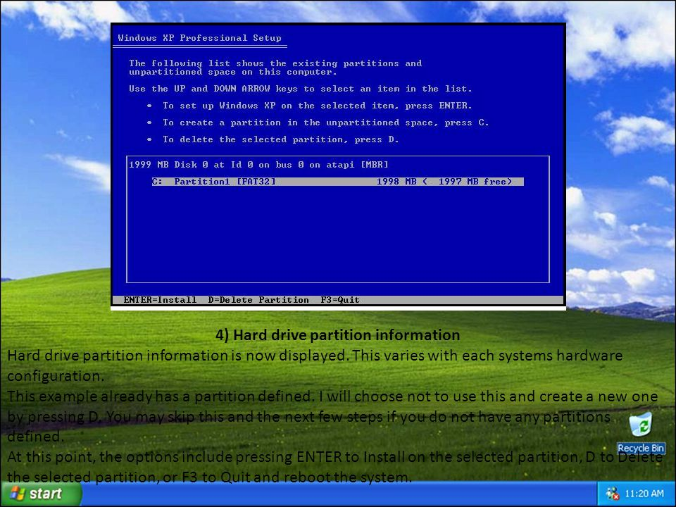 15) Press ENTER to Restart The first reboot and the end of the blue background has arrived.
