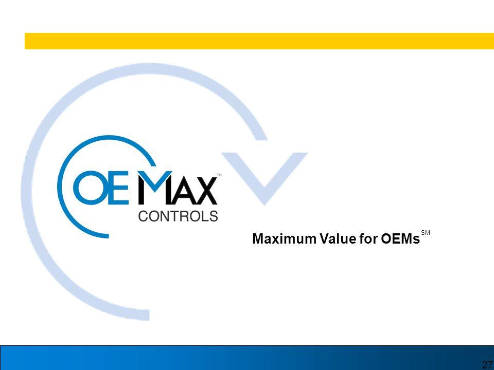 27 TM Maximum Value for OEMs SM