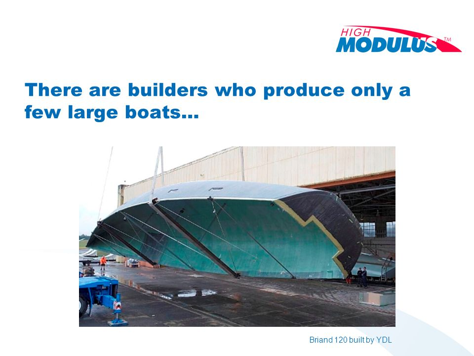 There are builders who produce only a few large boats… Briand 120 built by YDL