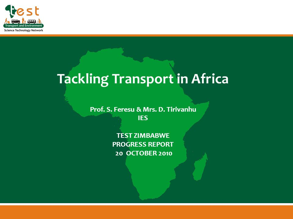 www.afritest.net Tackling Transport in Africa Prof.