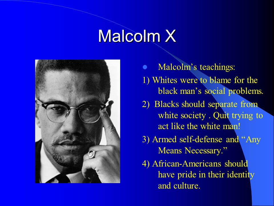Ballots or Bullets Malcolm broke from Elijah Muhammad in March 1964 because of differences in strategy and doctrine.