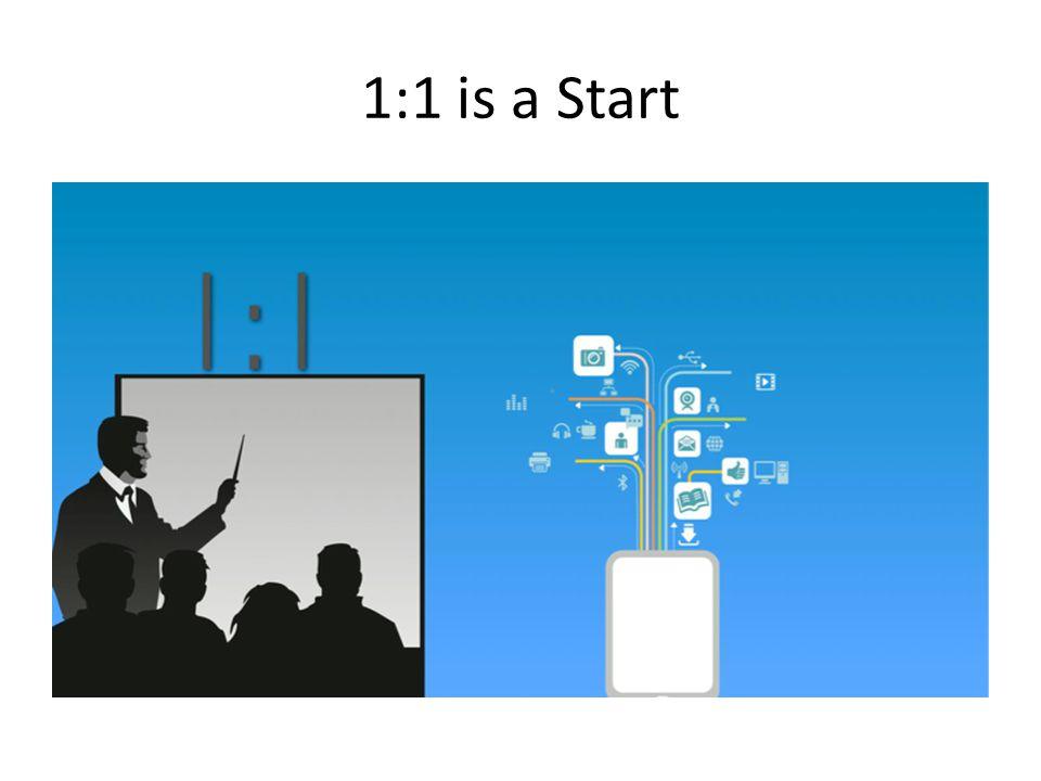 1:1 is a Start