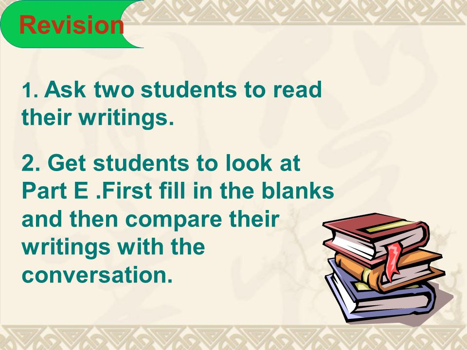 homework Finish A2 and B2 in their workbook.