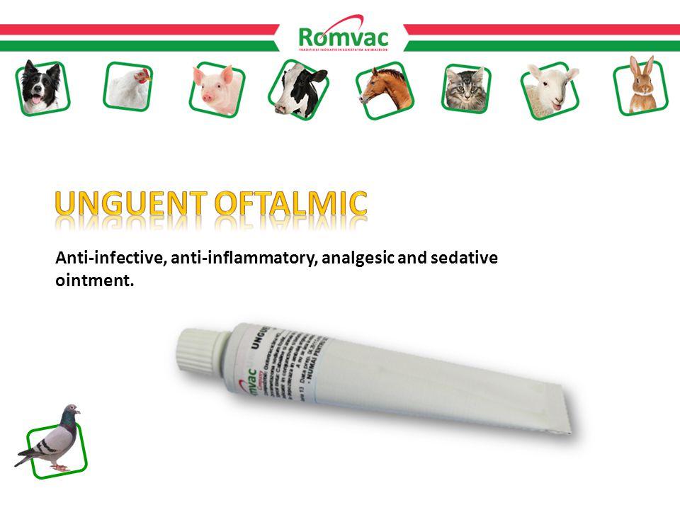Anti-infective, anti-inflammatory, analgesic and sedative ointment.