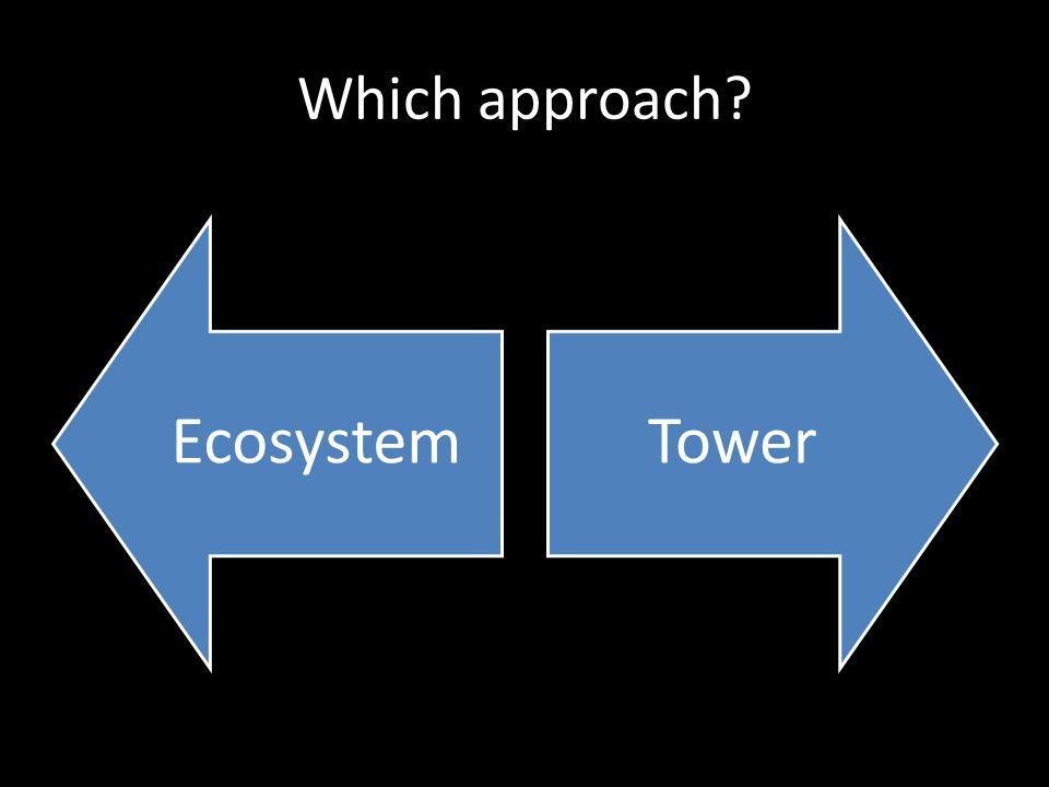 Which approach? EcosystemTower