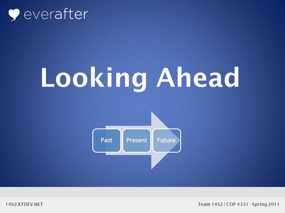 14S2.XTDEV.NET Team 14S2 | COP 4331 - Spring 2011 Looking Ahead PastPresentFuture