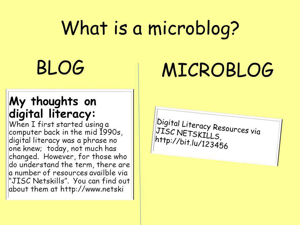 What is a microblog.
