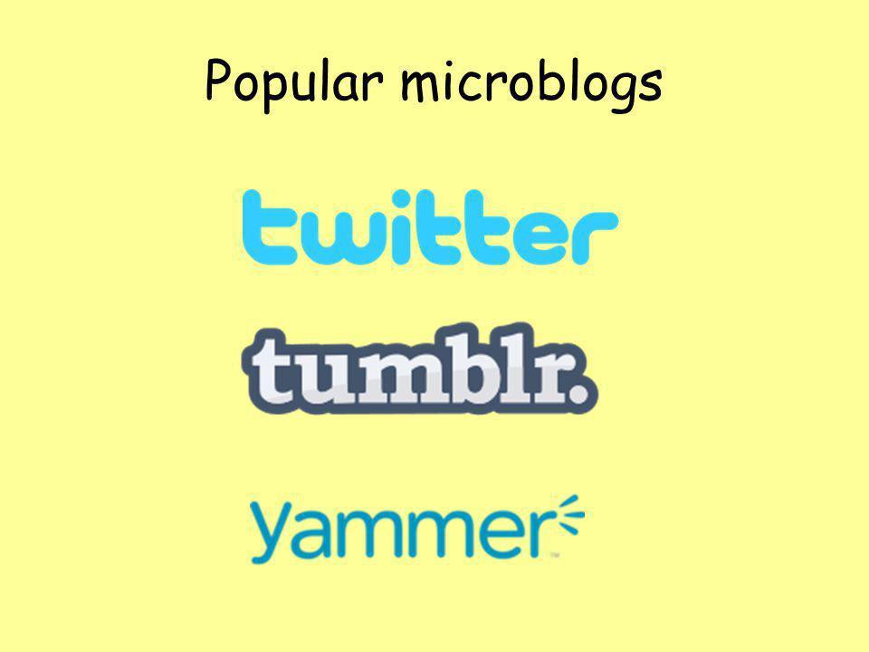 Popular microblogs