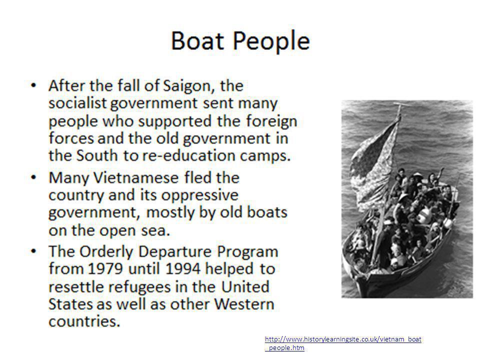 http://www.historylearningsite.co.uk/vietnam_boat _people.htm