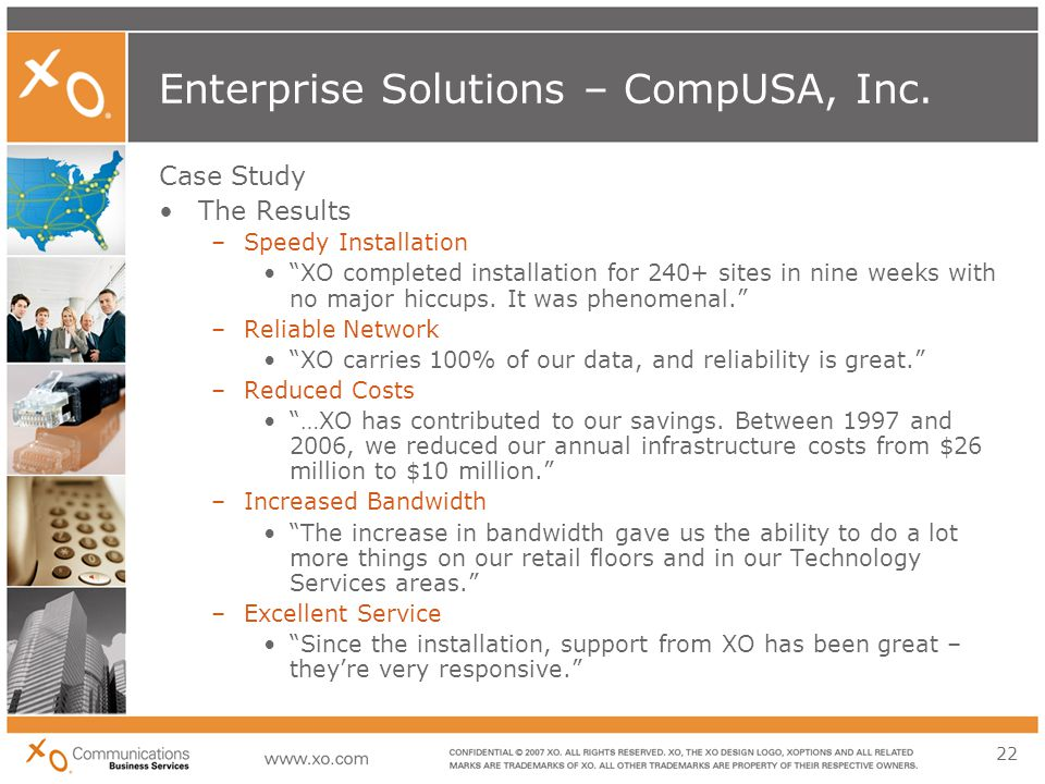 22 Enterprise Solutions – CompUSA, Inc.