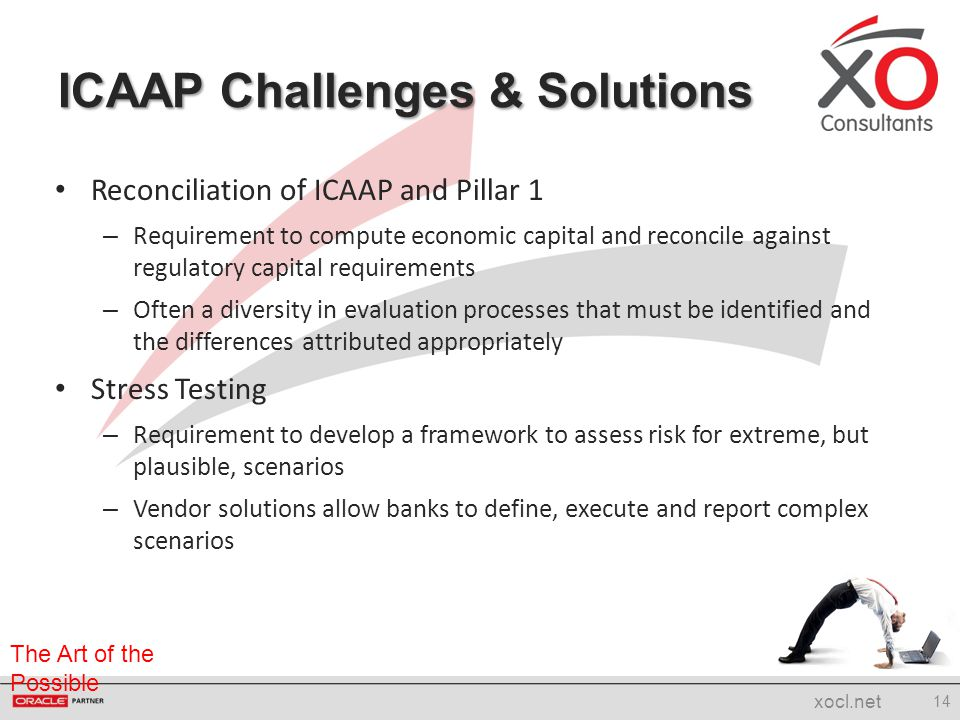 The Art of the Possible Reconciliation of ICAAP and Pillar 1 – Requirement to compute economic capital and reconcile against regulatory capital requir