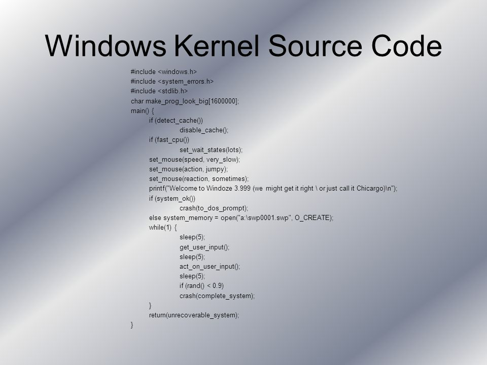 Microkernel Provides base services for the other components residing in kernel space Forms only small part of kernel space Provides basic system mechanisms –Thread scheduling Handles thread synchronization Dispatches interrupts Handles exceptions