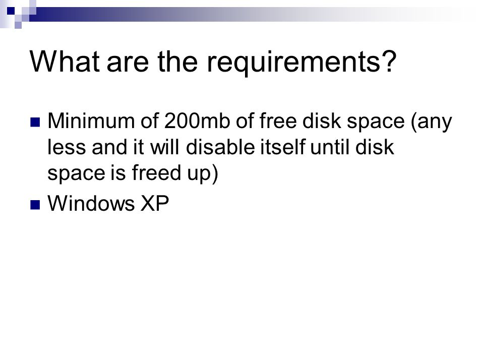 What are the requirements.