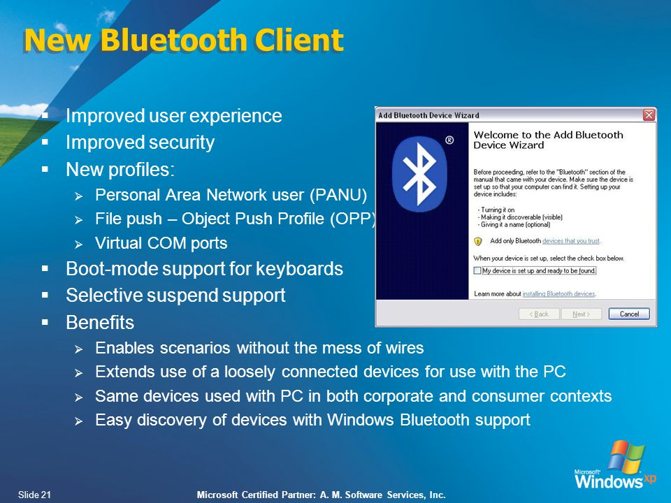 Slide 21Microsoft Certified Partner: A. M. Software Services, Inc.