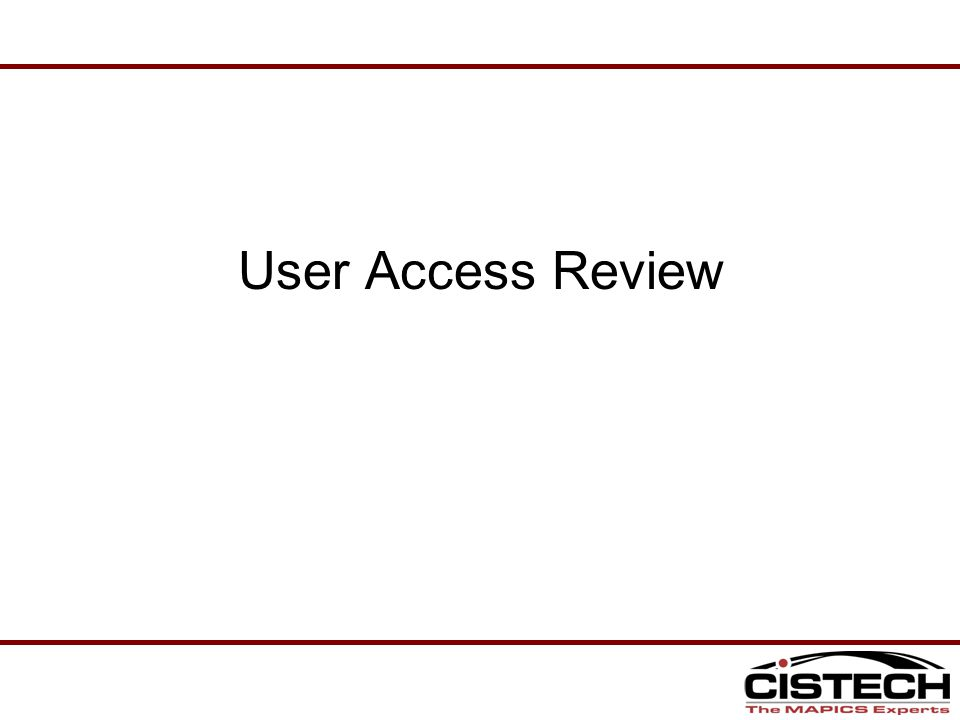 User Access Review