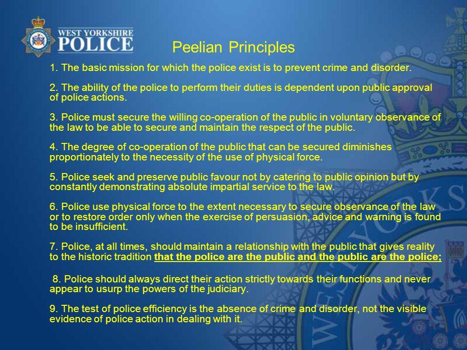 Peelian Principles 1.