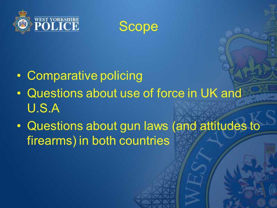 Comparative (international) policing