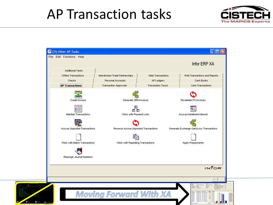 AP Transaction tasks