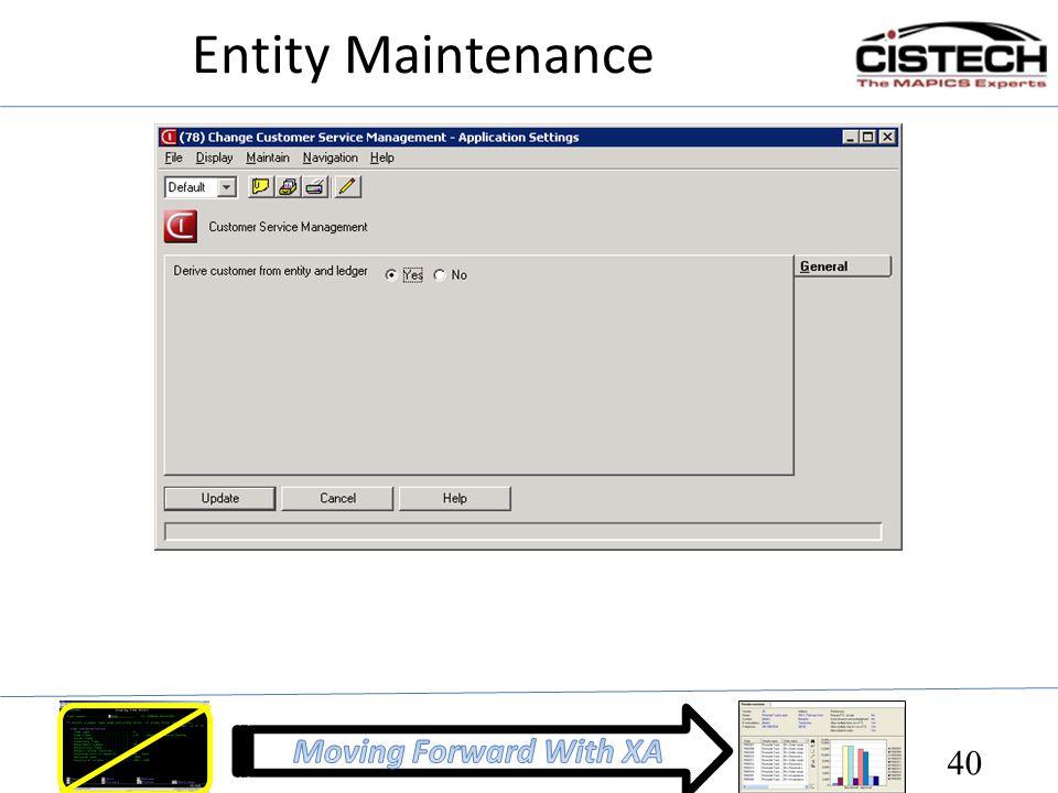 Entity Maintenance 40