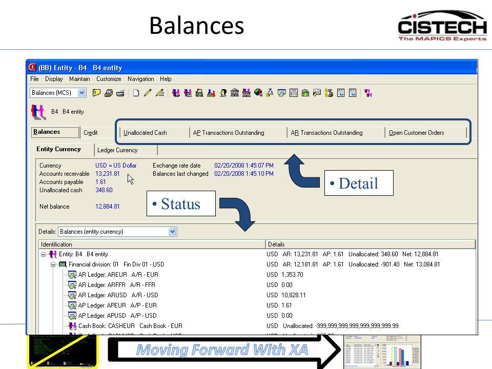 Balances Status Detail