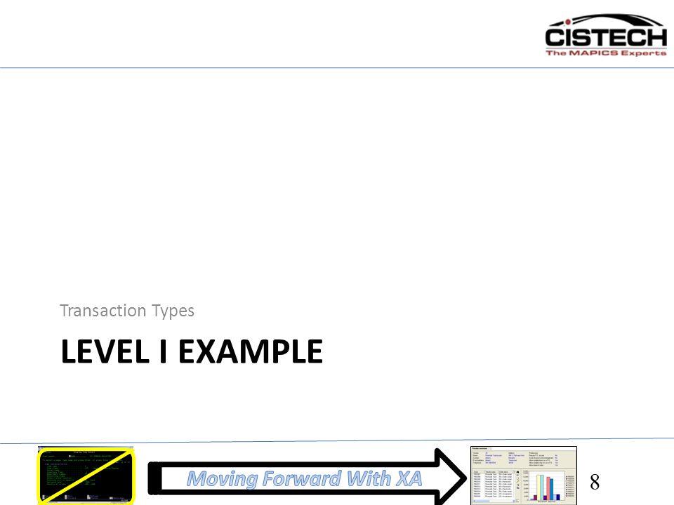 LEVEL I EXAMPLE Transaction Types 8
