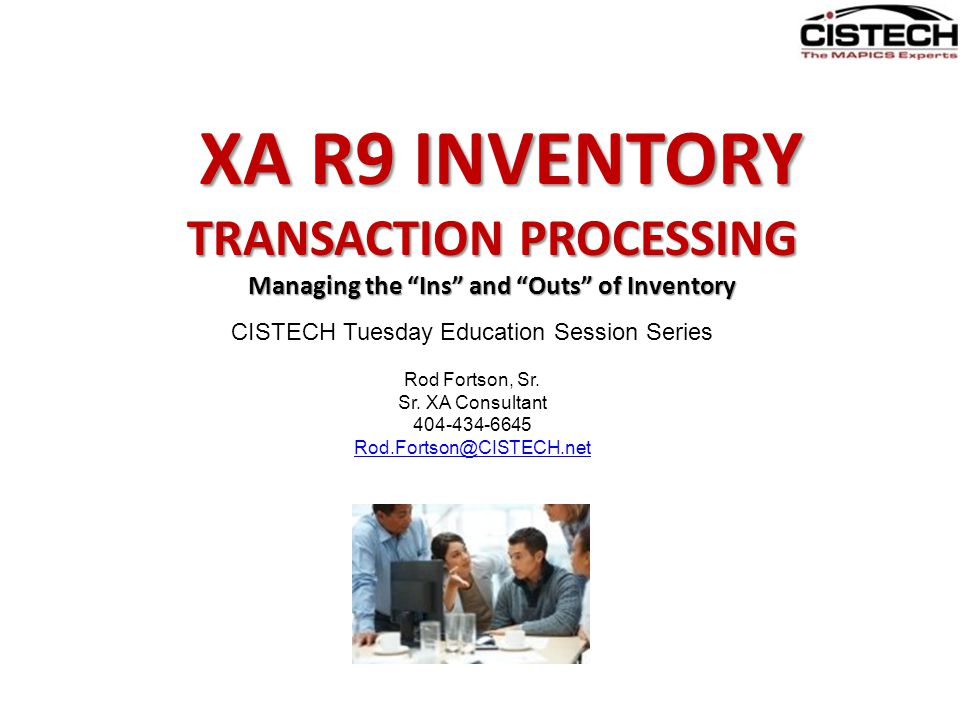 TRANSACTION PROCESSING AGENDA 1) What's new at Release 9 in IM and MM 2) XA Transaction Processing Receipt Transactions – The In's of Inventory Receipt Transactions – The In's of Inventory Movement of your InventoryMovement of your Inventory Issue Transactions – The Out's of Inventory Issue Transactions – The Out's of Inventory Costing and Adjustment TransactionsCosting and Adjustment Transactions 3) GLI – Integrate it all to your General Ledgers