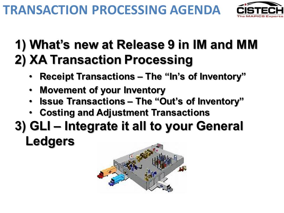What's new at R9 – Inventory Transactions At R9 ….all Inventory Transactions can be accessed from Power Link Cards, using a combination of Power Link and IDF Level 1 transactions.