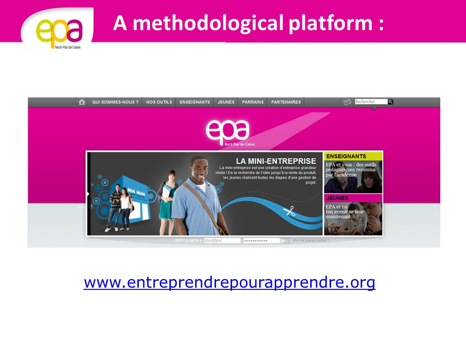 A methodological platform : www.entreprendrepourapprendre.org