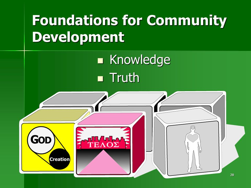 20 Foundations for Community Development Knowledge Knowledge Truth Truth