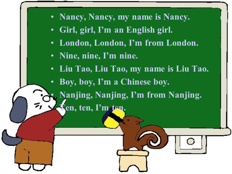 My name is Liu Tao. I'm a Chinese boy. I'm from Nanjing. I'm ten.
