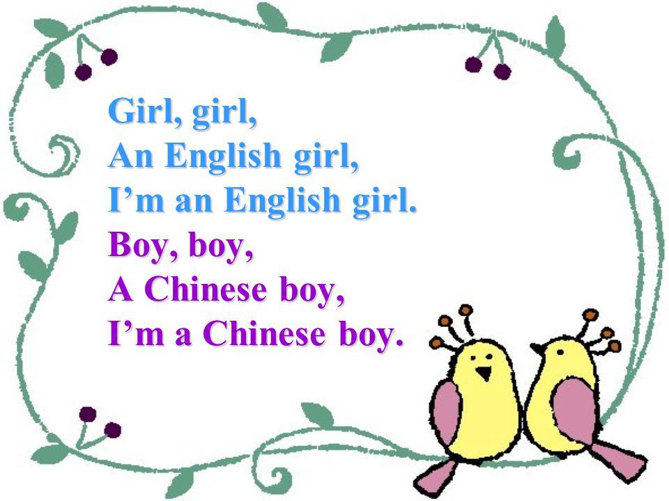 an English girl a Chinese boy