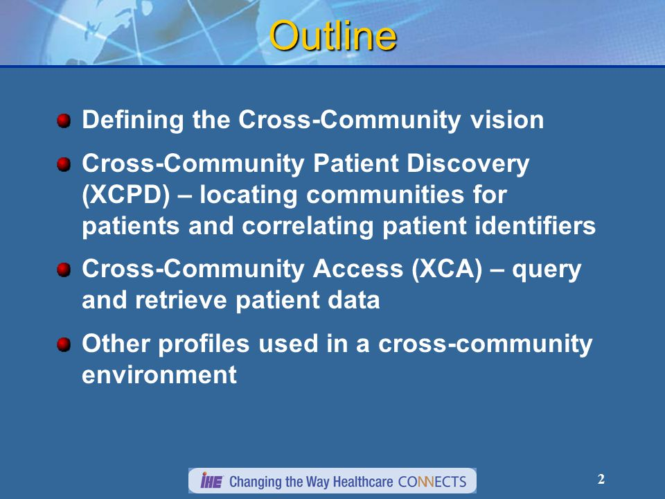 3 Timeline of ITI vision for Cross-Community 2006 – initial Cross-Community Vision  Why is XDS not enough.