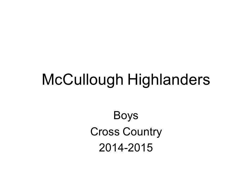 McCullough Highlanders Boys Cross Country 2014-2015