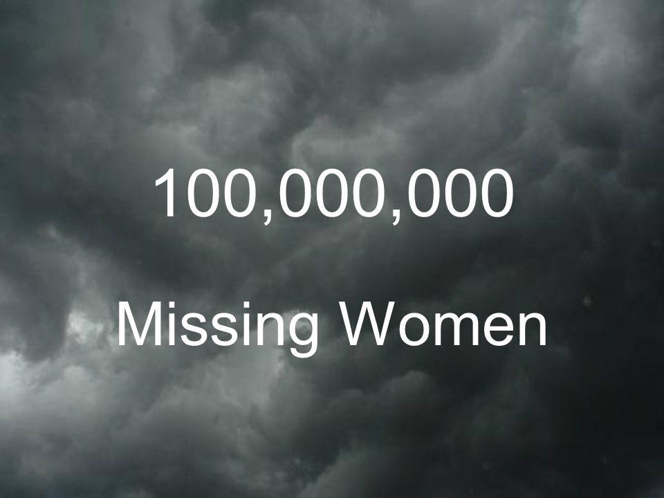 100,000,000 Missing Women