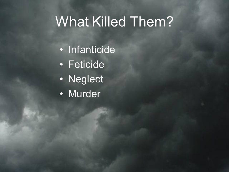 What Killed Them Infanticide Feticide Neglect Murder