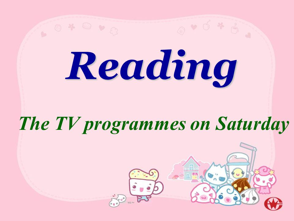 Reading The TV programmes on Saturday