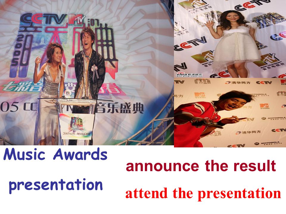 Music Awards attend the presentation announce the result presentation
