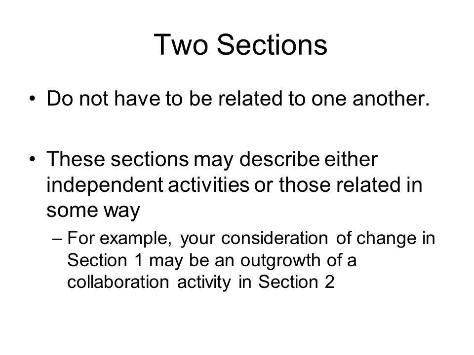 Do not exceed the limits for any section specified in the guidelines.