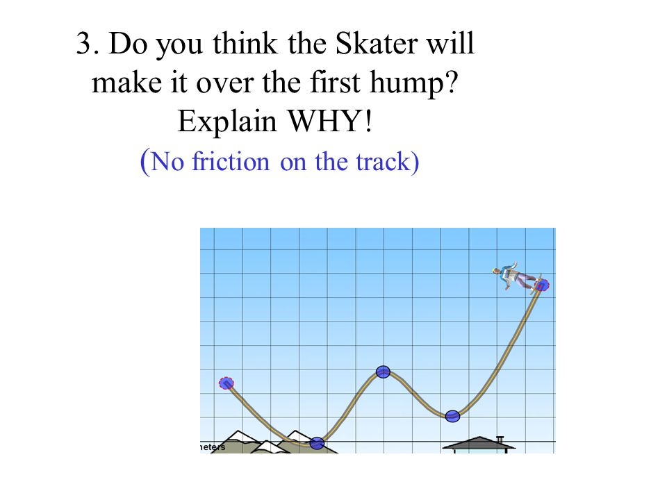 7.The Energy chart of a boy skating looks like this How would you describe his speed.