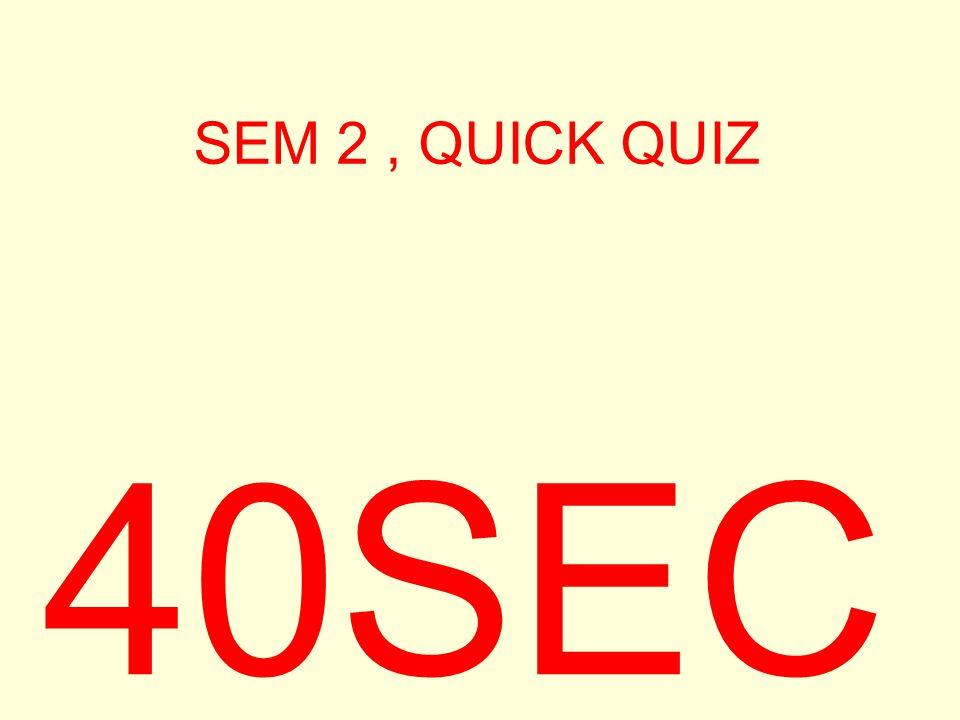SEM 2, QUICK QUIZ 40SEC