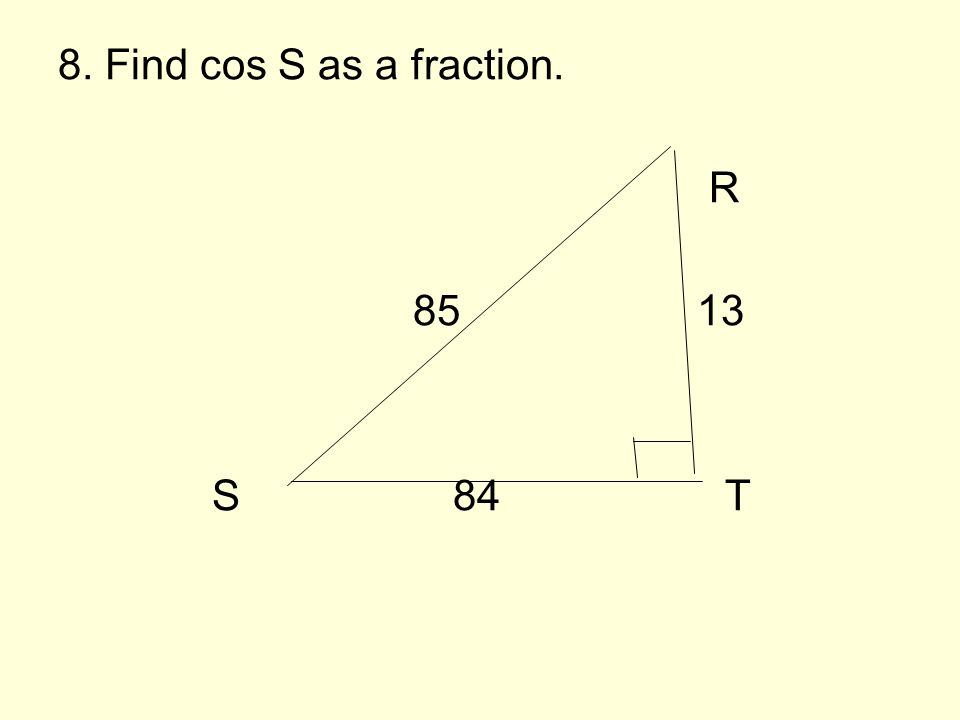 7) Find the value of x. 24 x 24 38
