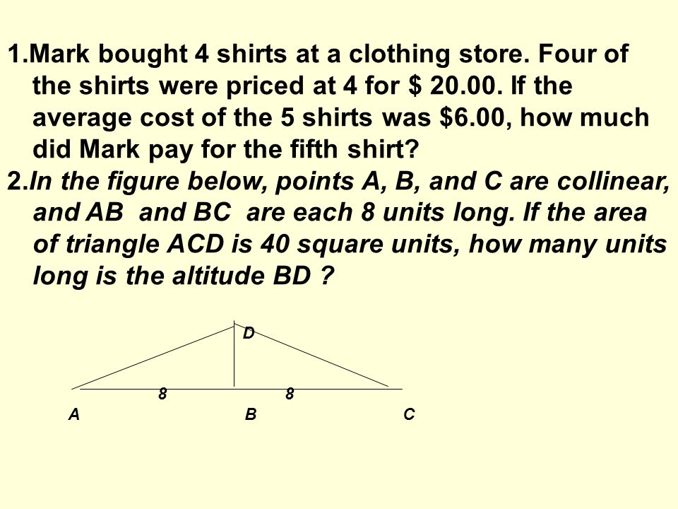 Objectives SWBAT: with at least 80% of accuracy Apply basic trigonometric ratios to solve real life problems (FUN 28-32)(review) Solve word problems containing several rates, proportions, or percentages (BOA (28-32))