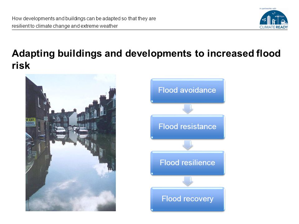 Avoiding flood risk How developments and buildings can be adapted so that they are resilient to climate change and extreme weather