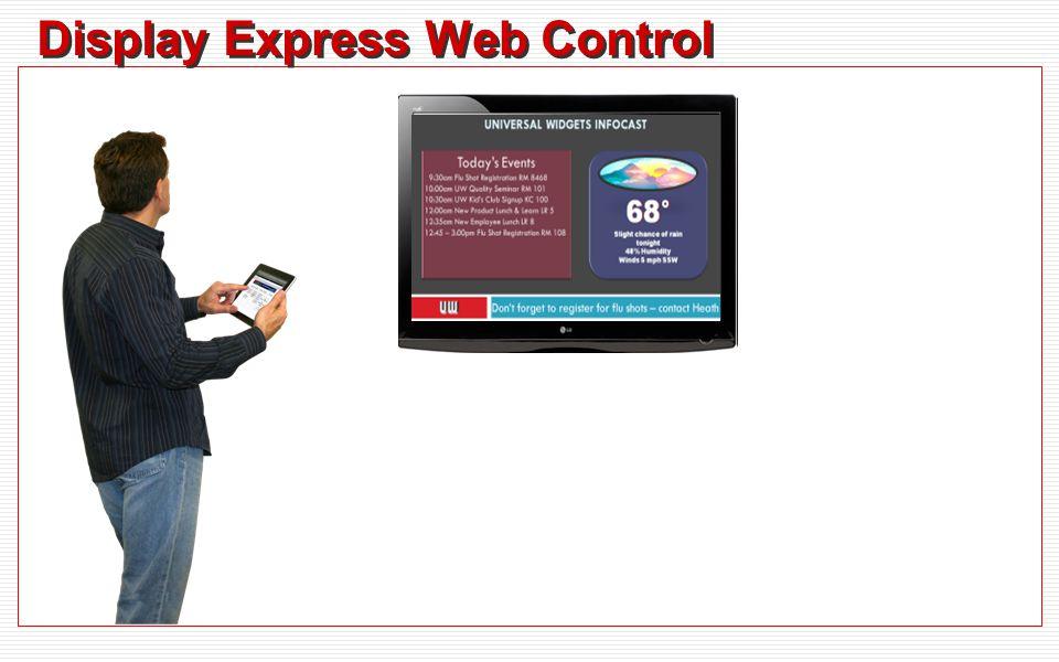 Display Express Web Control