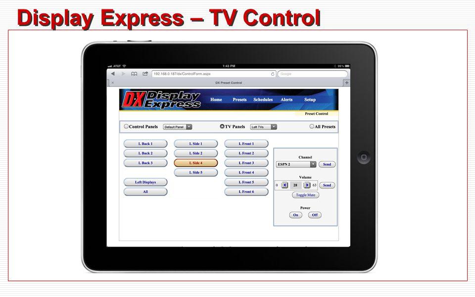Display Express – TV Control