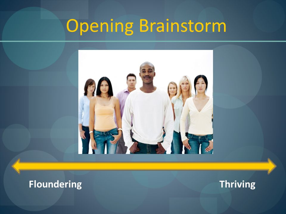 FlounderingThriving Opening Brainstorm