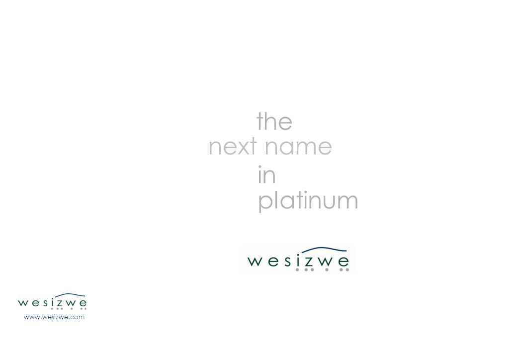 46 www.wesizwe.com the next name in platinum